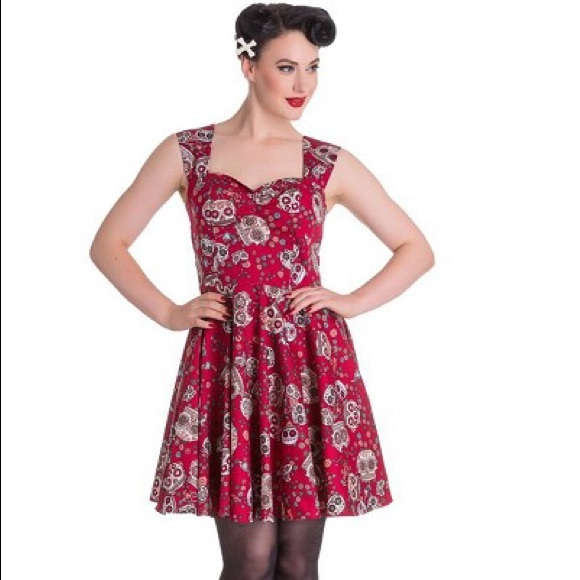 65def1a8d Hell Bunny red Idaho dress